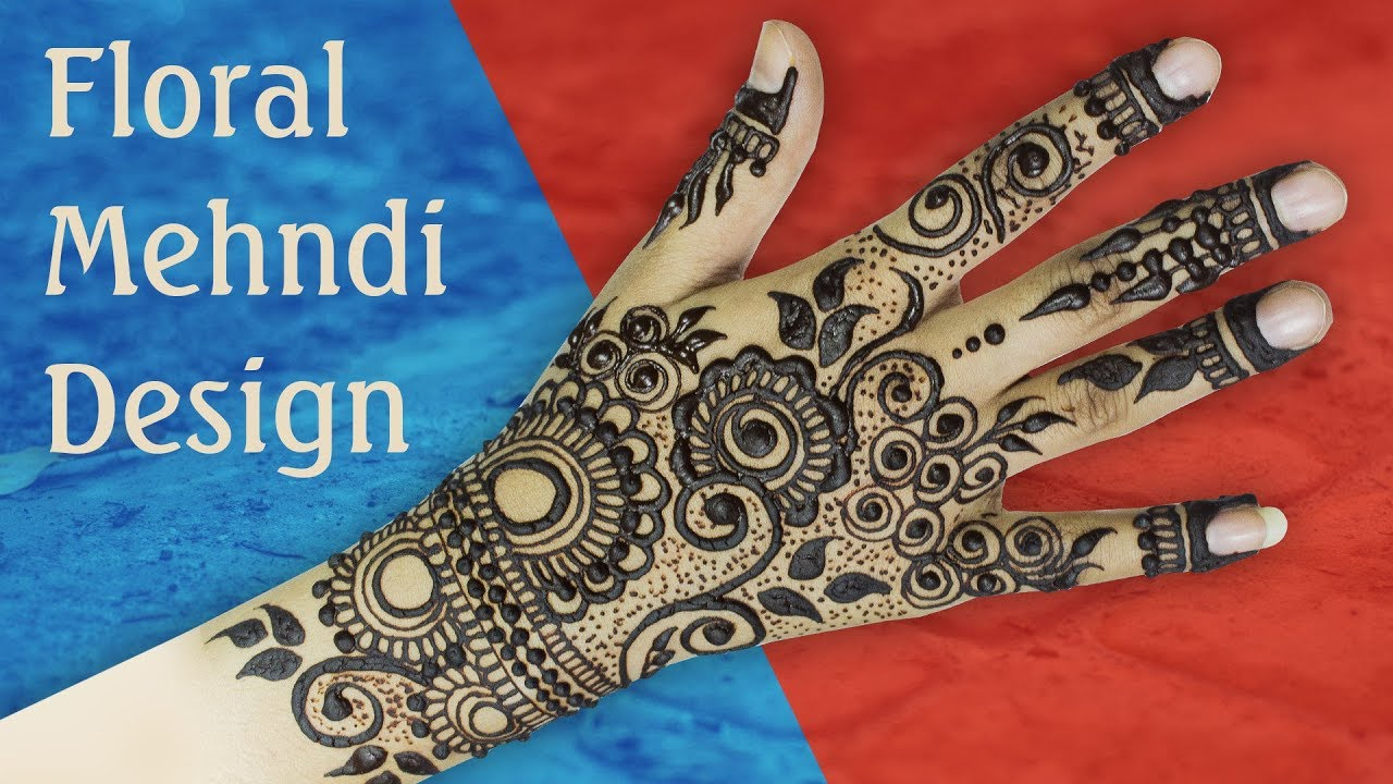 Flowers and leafs mehndi design tutorial video mehndipic flowers and leafs mehndi design baditri Images
